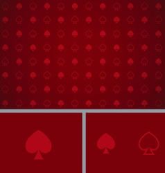 Clean Abstract Poker Background Red Spades vector