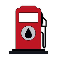 Colorful graphic fuel dispenser machine vector