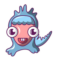 comic monster icon cartoon style vector image