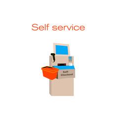 Concept on self checkout vector