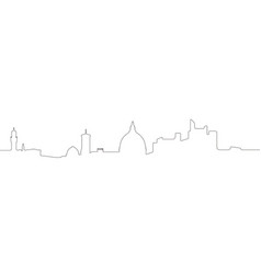 continous line skyline of florence vector image
