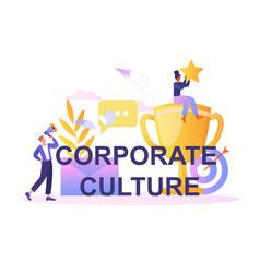 Corporate culture concept vector