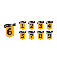 Countdown banners or badges vector