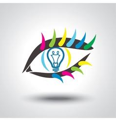 Creative idea Conceptual background vector image