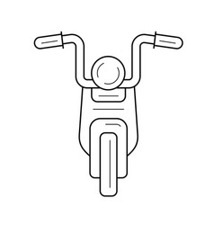Cruiser motorcycle line icon vector
