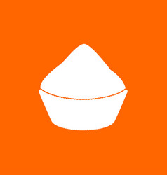 Cupcake white icon vector