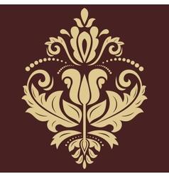 Damask Golden Pattern Orient Ornament vector