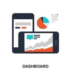 dashboard vector image