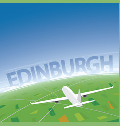 Edinburgh flight destination vector