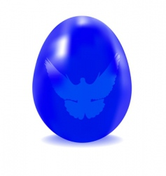 egg blue with a dove vector image
