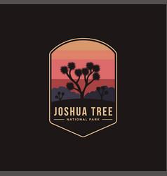 emblem patch logo joshua tree national park vector image