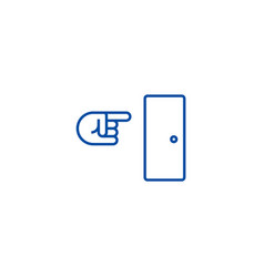 exit line icon concept exit flat symbol vector image