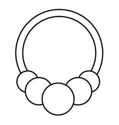 fashion bracelet icon outline style vector image