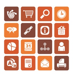 Flat Web Site Internet and computer Icons vector