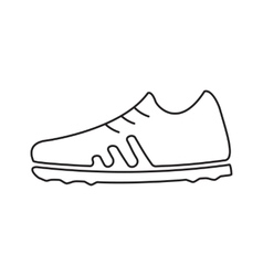 Football boots line icon vector image