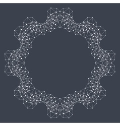 Geometric abstract form with connected line and vector