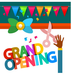 Grand opening design vector