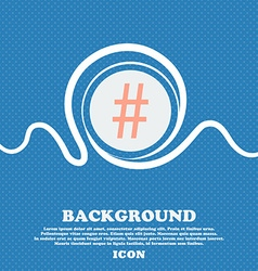 hash tag icon Blue and white abstract background vector image vector image