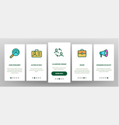 Head hunting service linear onboarding vector