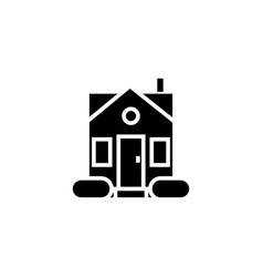 house simple - door center icon vector image