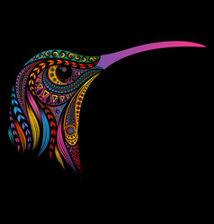hummingbird from patterns vector image
