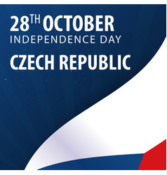 Independence day of czech republic flag and vector