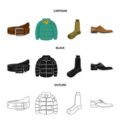 isolated object of man and clothing icon vector image