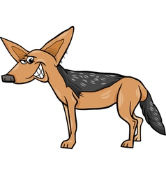 Jackal animal cartoon vector