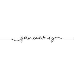 January word handwritten vector