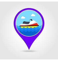 Jet Ski pin map icon Summer Vacation vector