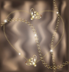 jewel heart vector image vector image