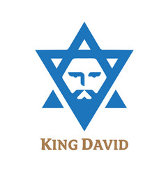 king david new version symbol vector image