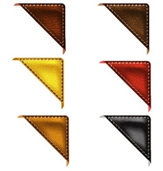Leather corner ribbon vector