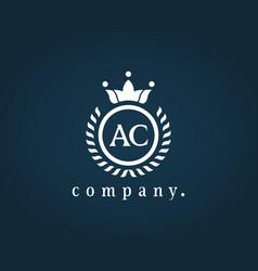 Letter ac a c luxury royal monogram logo design vector