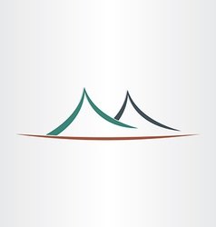 mountains landscape symbol abstract icon vector image