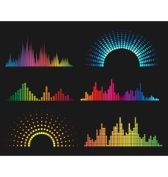 Music digital waveforms vector