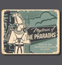 Mystery pharaohs ancient egypt landmark tours vector