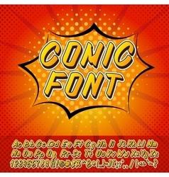 New comics style alphabet vector