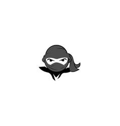 Ninja warrior logo design template vector
