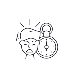 no time line icon concept no time linear vector image