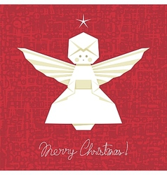 Origami Angel Background vector image