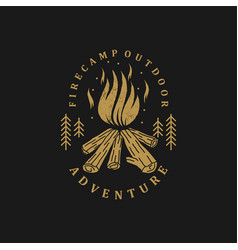 Outdoor logo camping and adventure vector