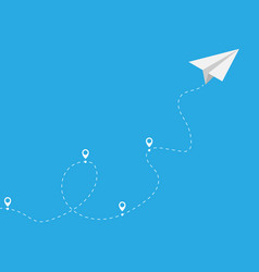 paper plane with pointer icon vector image