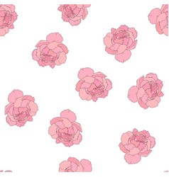 peony flowes seamless pattern vector image