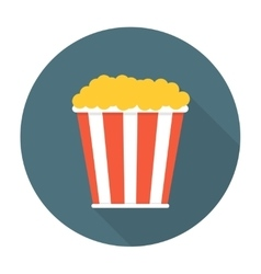 Pop corn flat icon vector image