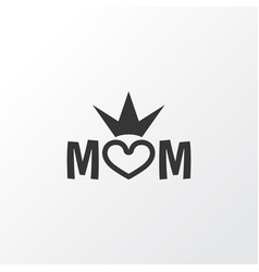 Queen icon symbol premium quality isolated mom vector