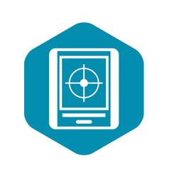 radar icon simple style vector image
