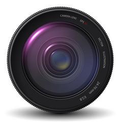 realistic camera lens eps 10 vector image