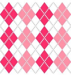 Retro Argyle seamless Pattern in Pink and white vector image