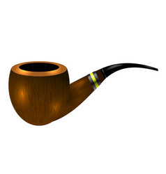 retro wooden smoking pipe vector image
